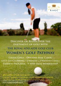 Women's Golf Pathway Poster